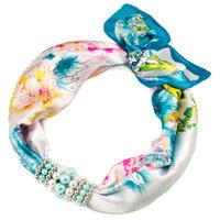 Šátek s bižuterií Letuška - modrý
