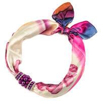 Šátek s bižuterií Letuška - růžový