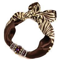 Jewelry scarf Stewardess - brown
