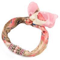 Jewelry scarf Stewardess - pink