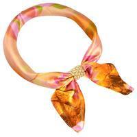 Šátek s bižuterií Letuška Light - oranžový s potiskem