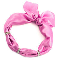Šátek s bižuterií Sofia - růžový