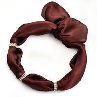 Šátek s bižuterií Sofia - hnědý