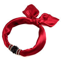 Jewelry scarf Stewardess - dark red