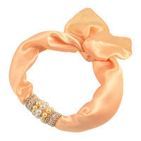 Jewelry scarf Stewardess - peach orange
