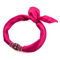 Jewelry scarf Stewardess - fuchsia pink