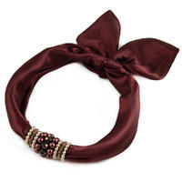 Jewelry scarf Stewardess - brown