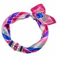 Jewelry scarf Stewardess - pink and blue