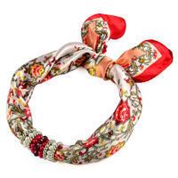 Šátek s bižuterií Letuška 299let004-01.20 - bíločervená