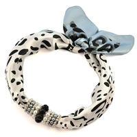 Jewelry scarf Stewardess - black and white