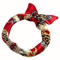 Šátek s bižuterií Letuška 299let007-22 - červený