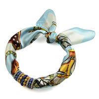 Šátek s bižuterií Letuška 299let009-31.02 - bledě modrý