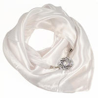 Jewelry scarf Stella - white