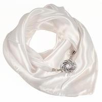 Šátek s bižuterií Stella - bílý
