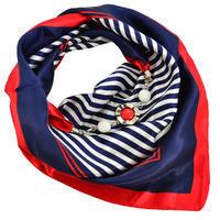Šátek s bižuterií Stella - modročervený