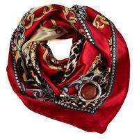 Šátek s bižuterií Stella 245ste007-20.40 - červenohnědý