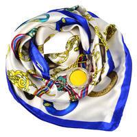 Šátek s bižuterií Stella - bílomodrý