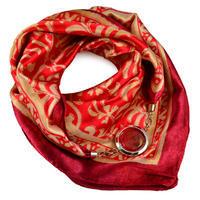 Šátek s bižuterií Stella - červený
