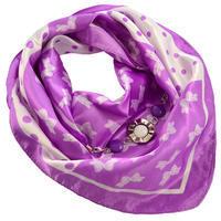 Šátek s bižuterií Stella - fialovobílý