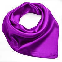 Šátek saténový - fialový