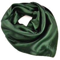 Šátek saténový - tmavě zelený