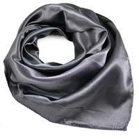 Šátek saténový - tmavě šedý