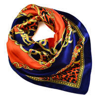 Small neckerchief 63sk007-30.11 - blue and orange