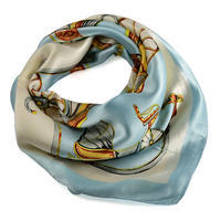 Small neckerchief 63sk009-01.31 - white and light blue