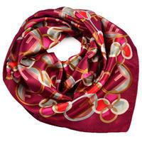 Šátek saténový - červený s potiskem