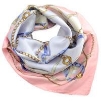 Šátek saténový - růžovo-fialový