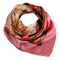 Small neckerchief 63sk009-27.40 - pink and brown