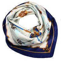 Šátek saténový - modrobílý