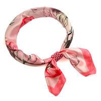 Šátek s bižuterií Letuška Light - růžový s potiskem