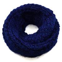 Tunelová pletená šála 69tz001-30d - modrá