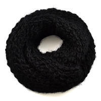 Warm snood 69tz009-03 - black and white abstract pattern