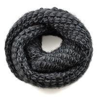 Tunelová pletená šála 69tz001-75a - tmavě šedá