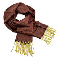 Classic warm scarf - dark red