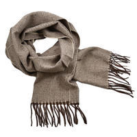 Classic warm scarf - light brown