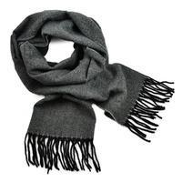 Classic warm scarf - dark grey