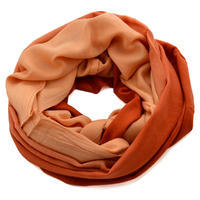 Winter infinity scarf - orange