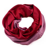 Winter infinity scarf - dark red and old rose