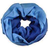 Winter infinity scarf - blue