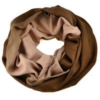 Winter infinity scarf - brown
