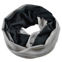 Winter infinity scarf - grey and black