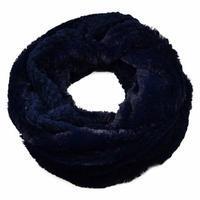 Tunelová kožešinová šála 69tz001-30f - modrá