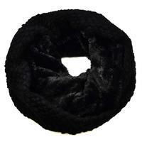 Tunelová kožešinová šála 69tz001-70i - černá