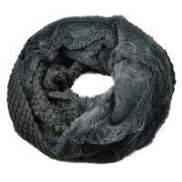 Tunelová kožešinová šála 69tz001-75c - šedá