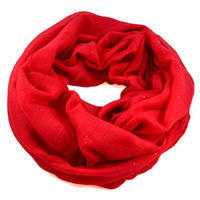 Infinity scarf - solid red