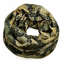 Tunelová šála 69tu007-52.71 - zelená hadí kůže