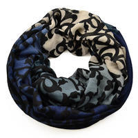 Snood 69tu009-32.10 - turquoise and yellow, mixed print